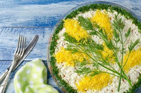 Разновидность салата мимозы