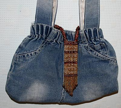 джинсовая мужская сумка своими руками.