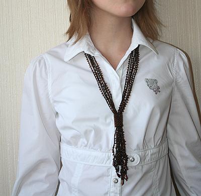 коричневая воздушка-галстук