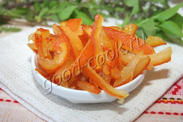 цукаты из апельсиновых/лимонных корочек