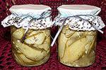 консервированные огурцы (пластинками) с горчицей
