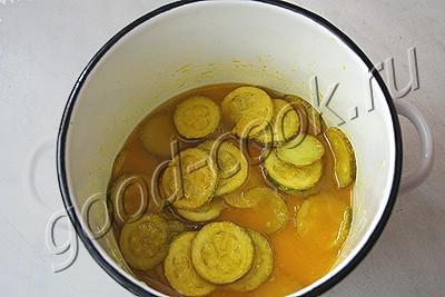 лимонные дольки из кабачка