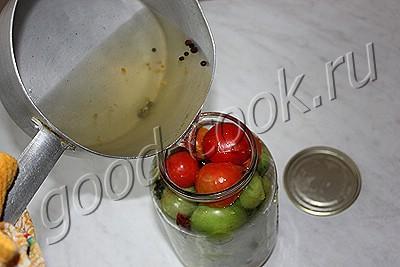 маринованные острые зелёные помидоры