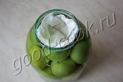 соленые зелёные помидоры с горчицей