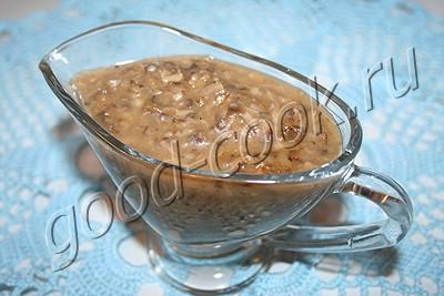 Рецепт соуса из шампиньонов