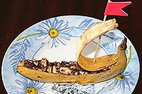 """банановый десерт """"Кораблик"""""""