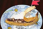 банановый десерт Кораблик