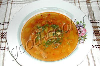 картофельный суп с курагой