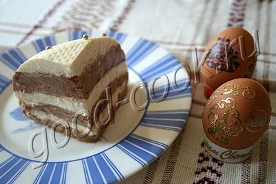 пасха полосатая с шоколадом