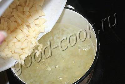 суп из рыбных консервов