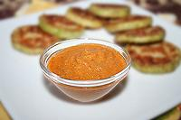 соус из свежих томатов с зелёным чесноком