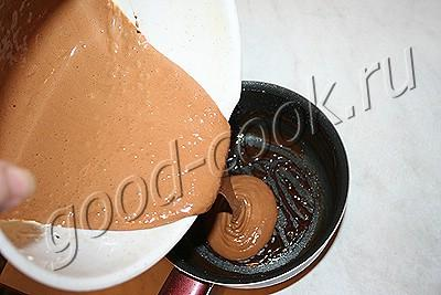 шоколадно-яичное мороженое-тянучка