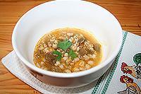 перловый суп с баклажанами