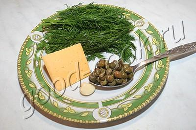 укропно-сырный соус к картофелю
