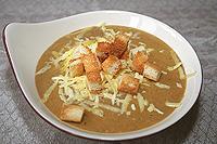 сырный суп-пюре с грибами и овощами
