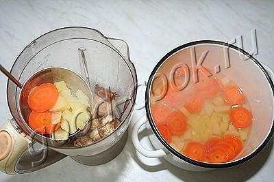рецепт сырного супа пюре из плавленного сыра с грибами