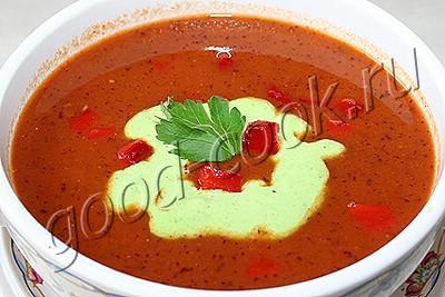 фасолевый суп с запеченными помидорами