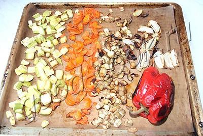 суп-пюре из запеченных овощей