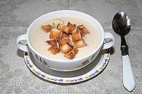фасолевый суп-пюре с копченой курицей