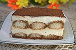 десерт Тирамису на заварной помадке