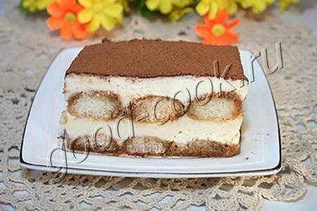 """десерт """"Тирамису"""" на заварной помадке"""