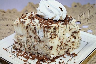 домашнее мороженое с шоколадом и безе