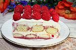 десерт Тирамису с малиной или клубникой