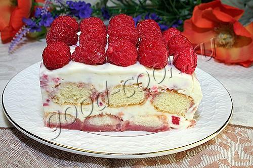 """десерт """"Тирамису"""" с малиной или клубникой"""