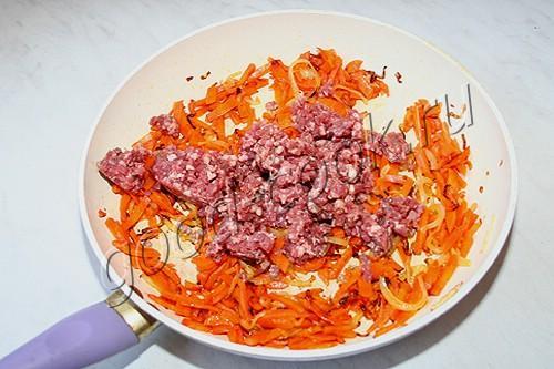 морковно-сливочный суп-пюре с фаршем