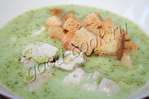 рецепт сырного супа крем с курицей с фото