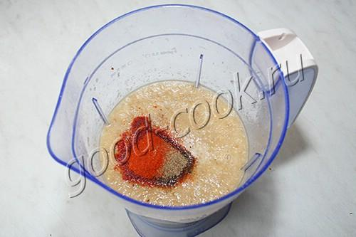 баклажановый суп-пюре с фаршем