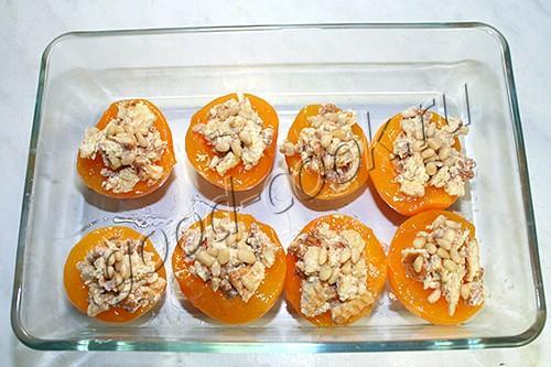 запеченные фаршированные персики