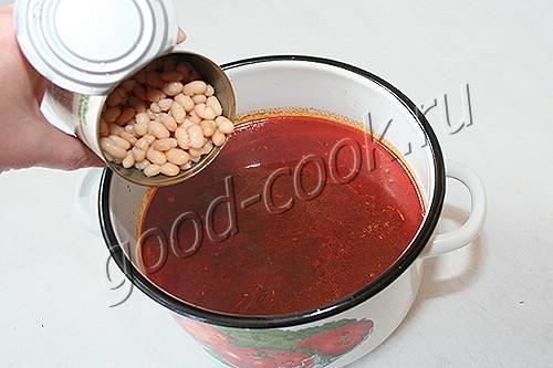 куриный суп с фасолью