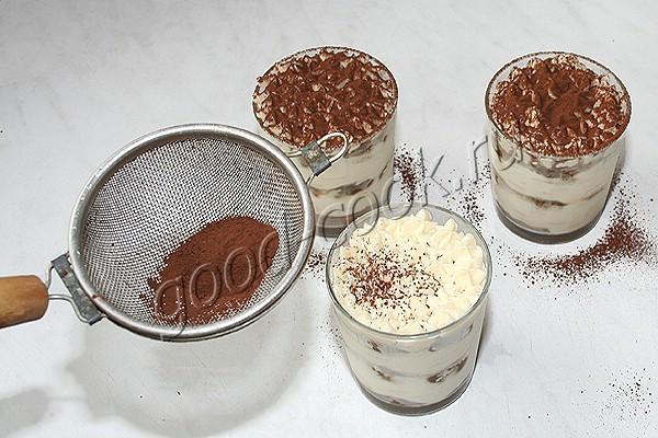 """десерт """"Тирамису"""" в стакане"""