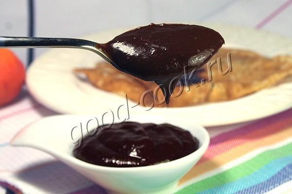 абрикосово-шоколадный соус