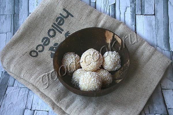 кокосовые шарики на сухом молоке