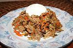 мясной салат с морковью Обжорка