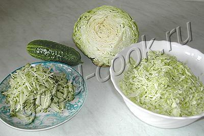 Рецепт вкусного салата из свежей капусты на зиму