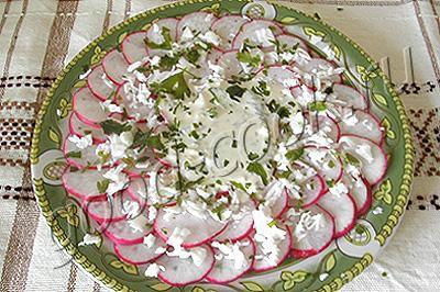 салат из редиса Рубиновый