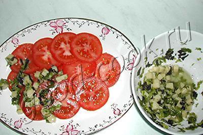 закуска из помидоров с брынзой
