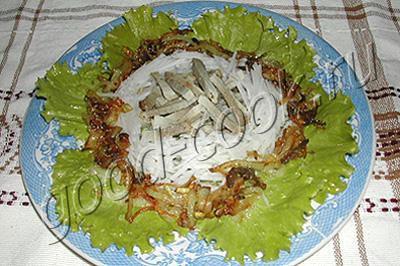 Салат мясной с дайконом и грибами – кулинарный рецепт