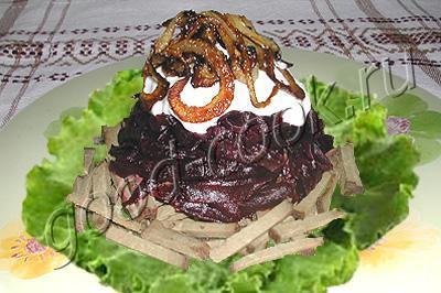 печеночный салат со свеклой