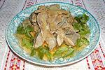 острая закуска из куриных желудков