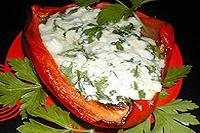 запеченные перцы с брынзой