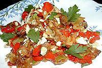 салат из печеных кабачков и перцев