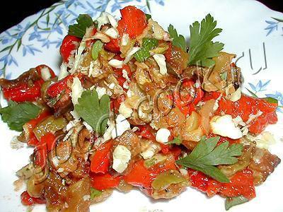 салат с кабачками и перцем