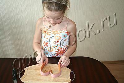 яичница Сердечко