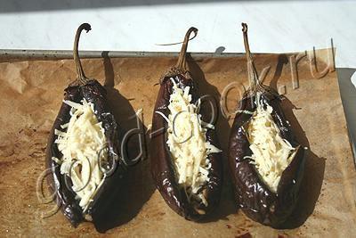 овощная закуска в баклажановых лодочках