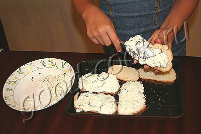 пикантные бутерброды с творогом