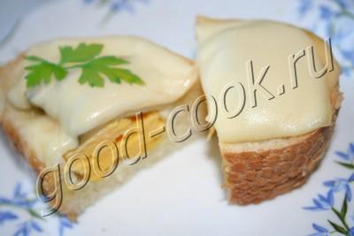 горячий бутерброд-корзинка